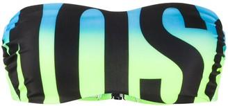 Moschino Logo Print Bikini Top
