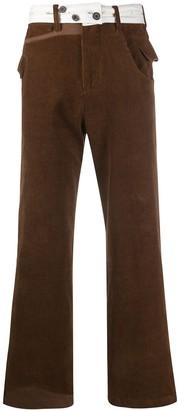 Ader Error Straight-Leg Corduroy Trousers