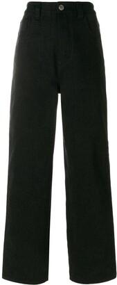 Koché Stripe Detail Straight Leg Jeans