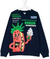 Kenzo cartoon statue of liberty print sweatshirt