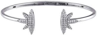 FINE JEWELRY Lab-Created White Sapphire Sterling Silver Cuff Bracelet