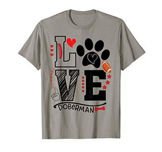 Love Doberman Dog Rugby Football Season Game Day Women Gift T-Shirt