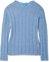 MiH Jeans Carolee Ribbed Mohair-blend Sweater - Light blue