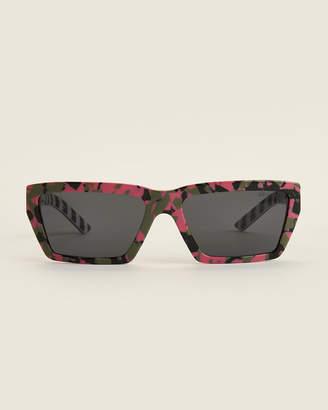 Prada SPR 04V Pink Camo Rectangle Sunglasses