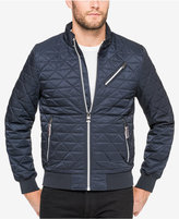 GUESS Men's Player Quilted Full-Zip Bomber Jacket