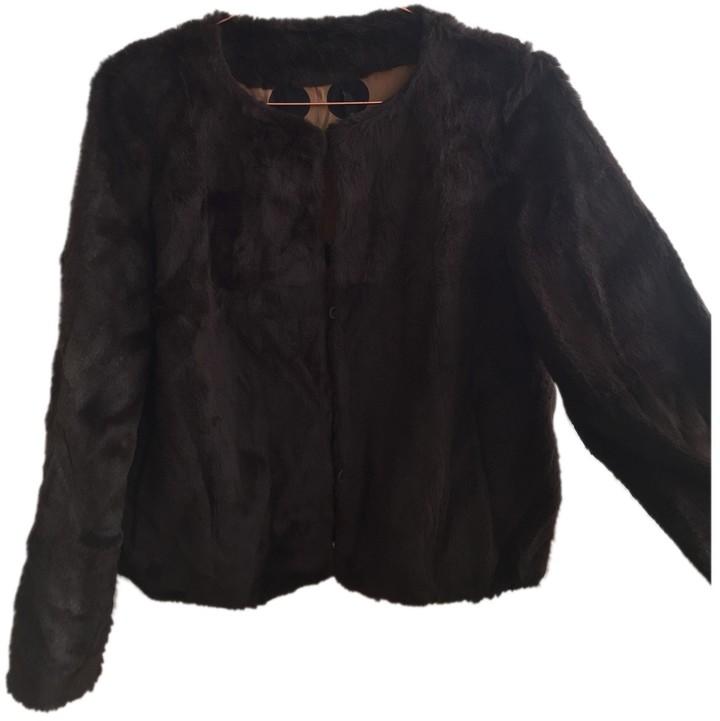 Madame à Paris Brown Rabbit Jacket for Women