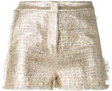 Gianluca Capannolo metallic (Grey) bouclé shorts