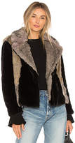 Rebecca Taylor Patched Faux Fur Jacket