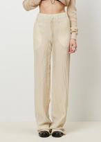 Yang Li off white drawstring trouser