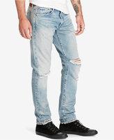 Denim & Supply Ralph Lauren Men's Slim-Fit Sawyer Light-Wash Deconstructed Jeans