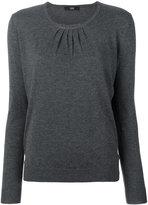 Steffen Schraut pleated round neck sweater - women - Nylon/Polyester/Viscose/Cashmere - 34