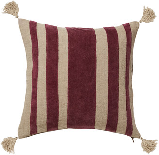OKA Portloe Stripes Cushion Cover - Rioja