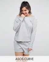 Asos Lounge Pom Pom Sweatshirt