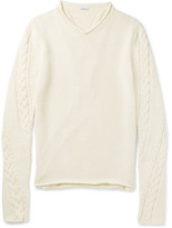 Loewe Cable-Knit Cotton-Blend Sweater