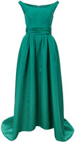 Carolina Herrera fff the shoulder high low gown - women - Silk - 2