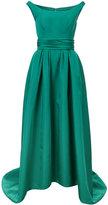 Carolina Herrera off the shoulder high low gown - women - Silk - 2
