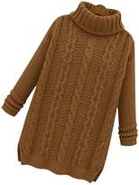 S.S Women's Turtle Cowl Neck Ribbed Cable Knit Long Sweater Jumper Pullover Cardigan