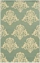 Payne Rizzy Home Vicki Collection Motif 2-Foot x 3-Foot Rug in Light Blue