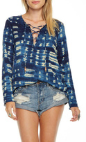 Chaser Tie Dye Lace-Up Tunic