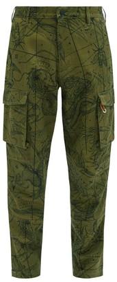Givenchy Map-print Cotton-twill Cargo Trousers - Khaki