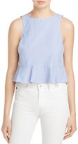 Aqua Cropped Flounce-Hem Tank - 100% Exclusive