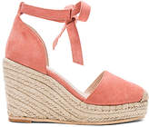 RAYE Dahlia Wedge in Peach. - size 5.5 (also in 7,8,8.5,9)