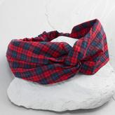 World Market Red and Blue Plaid Headband