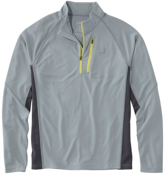 L.L. Bean L.L.Bean Men's Ridge Runner Quarter-Zip, Long-Sleeve Colorblock