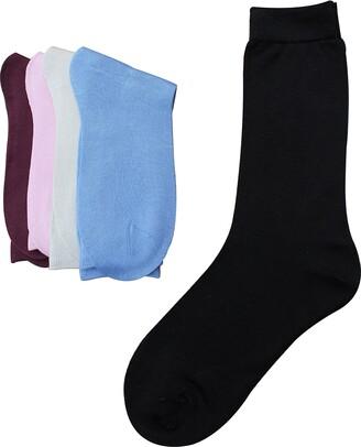Jasmine Silk 5 Pairs Women Pure Silk Socks Thermal One Size (3-7)