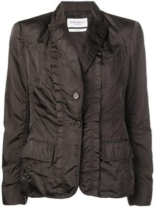 Saint Laurent Pre-Owned single breasted silk jacket