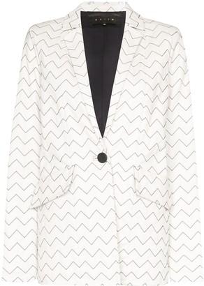 Magda zigzag stitch blazer