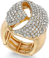 INC International Concepts Rose Gold-Tone Crystal Dome Stretch Ring, Only at Macy's