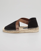 Bettye Muller Lasso Stretch Metallic Espadrille, Black/Bronze