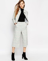 Asos Wide Leg Culottes in Check Co-ord