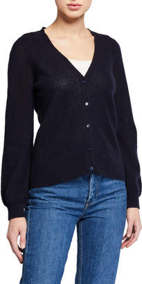Majestic Filatures Cashmere Cardigan with Puffy Sleeves