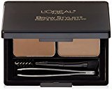 L'Oreal Cosmetics Stylist Prep and Shape Brow Liner Kit, Light To Medium, 0.12 Ounce