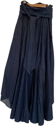 Tibi Blue Denim - Jeans Skirt for Women