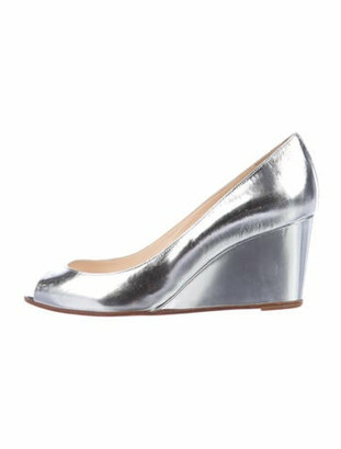 Christian Louboutin Leather Pumps Silver