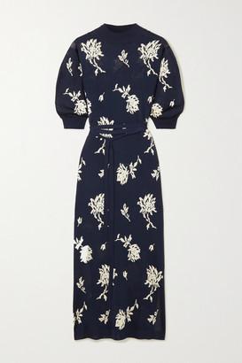 Chloé Jacquard-knit Midi Dress - Navy