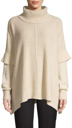 Design Lab Turtleneck Layered Sweater