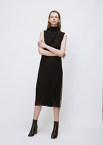 Yang Li black/snake high neck tunic dress
