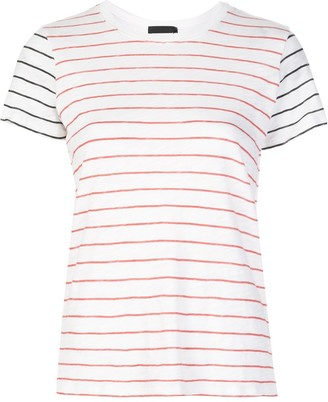 ATM Anthony Thomas Melillo contrast colour striped T-shirt