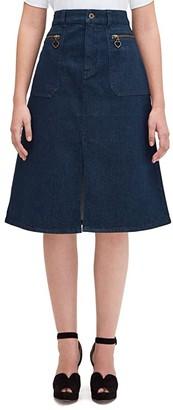 Kate Spade Spade Zip Denim Skirt (Indigo) Women's Skirt