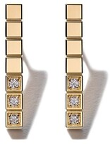 Chopard 18kt yellow gold Ice Cube Pure diamond earrings