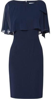 Gina Bacconi Krissy Crepe Chiffon Dress