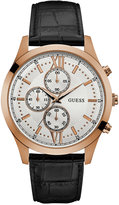 GUESS Men's Chronograph Hudson Black Leather Strap Watch 43mm U0876G2