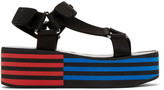 Versace Black Flatform Sandals