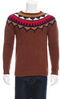 Burberry Wool Patterned-Knit Sweater