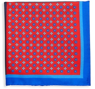 Saks Fifth Avenue Made In Italy Colorblock Silk Pocket Square