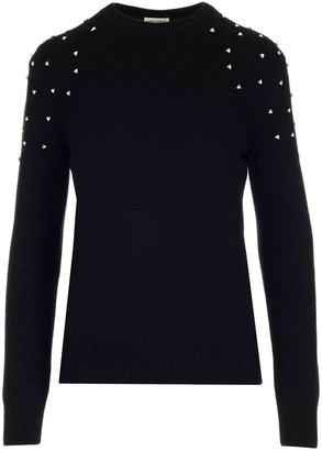 Saint Laurent Embellished Crewneck Sweatshirt